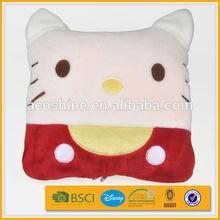 2015 high quality super soft coral fleece plush pillow pet blanket
