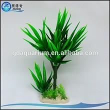 26CM Height Popular Plastic Aquarium Plants Decorations , 60pcs / bag