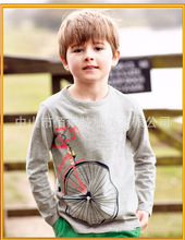 Hot sale kids clothing 100% cotton long sleeve boys stylish t-shirt