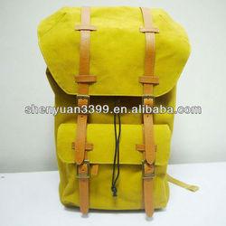 Fashion custom travel camping hiking sports canvas backpack