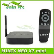 Hot !!external antenna android tv box Minix neo x7 mini rk3188 quad core android 4.2 A9 mini pc androil tv box