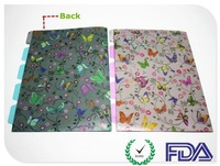 PP L Shape Printing Folder with Index Customized Design