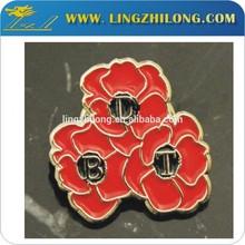 Custom flower pin badge decoration poppy badge poppy brooch