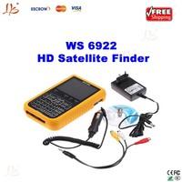"Free shipping!! WS 6922 Satlink WS-6922 3.5"" HD Satellite Finder Meter DVB-S DVB-S2 MPEG-4"