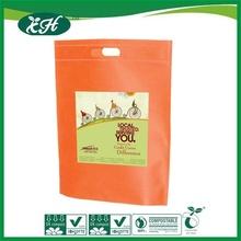 promotional die cut handle orange plastic bag for halloween