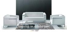 QJ-923# FOSHAN Hot popular modern wooden white corner sofa