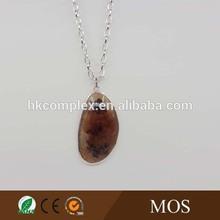 Single gems stone Women female fashion chain necklace jewelry