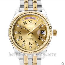 18k gold watch king quartz chronograph stainless steel watch