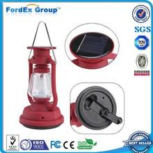 led dual function hand crank led camping lantern