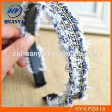 Korean style fashion denim blue minimalist woolen hair bands wild classic simpl hairband jewelry