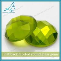 Wuzhou synthetic glass stone olive round flat cut diamond