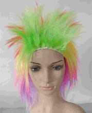 Wholesale 2015 Hot Sale Fashion Cheap Football Fan Wigs hair roller meches