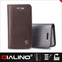 QIALINO Luxury Quality Customized Logo Magnetic Smart Cover Hard Case For Apple For Iphone 4S