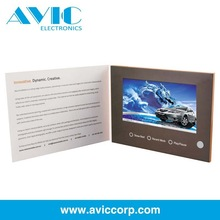 Direct marketing video book/video mailer/video magazine for business promotion