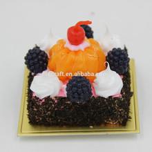 Miniature fruit cake magnet,handmade polymer clay cake crafts/Yiwu sanqi craft factory