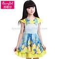 çocuk giyim toptan 2015 sıcak satış kız elbise çocuk giysileri, yazlık elbise bebek şifon elbise çocuk bezi