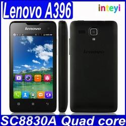 "Promotion Lenovo A396 Cell Phone Dual SIM 4.0"" Qualcomm SC7730 Quad Core 256MB+512MB 3G WCDMA Celulares Android Original"