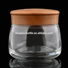 Skin care body cream bulk glass jar wholesale 120ml cosmetic jar 130ml empty cream bottle for spa