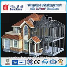 Luxury light steel structure villa