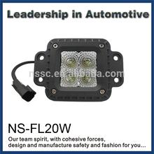 High power flush mount led work lights,black aluminum housing, spot or flood beam