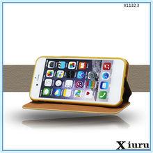 wood grain design flip cover phone case for apple iphone 6 64gb