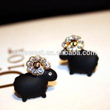 new animal shape fingernail earring posts, sheep fingernail earring posts