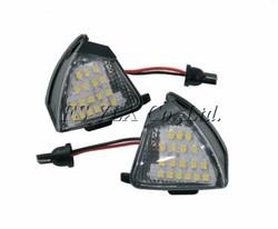 VOLKSWAGEN GOLF MK5 3.2 R32 2005 - 2008 UNDER MIRROR LED PUDDLE LIGHT LAMP WHITE