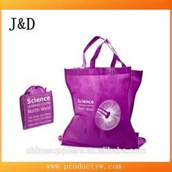 Eco Foldable Tote Non Woven Folding Shopping Bag With Rigid Base