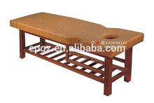 Soft Massage Leather Bed/Solid Wood Frame Leather Bed for Massage Salon Furniture