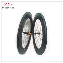 High durable carbon wheels, 32inch far sports carbon rims 88mm, china carbon wheel clincher basalt brake surface, 23mm/25mm wide