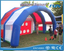 inflatable football flied shoot for sale / hot selling inflatable footbal playing shoot /inflatable football shoot for players