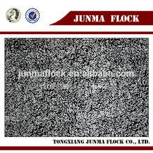 White Black Snowflake Pattern China Textile Latest Flocked Modern Wooden Design Fabric Sofa