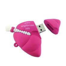 red heart usb flash memory , heart shape pen drive , promoitional cheap heart usb 2gb