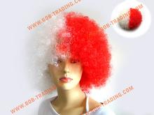 Hot sale cheap afro football fan wigs hair color pen