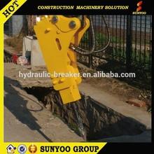 53mm mini hydraulic breaker quick beat frequency 600-1100 beat per minut