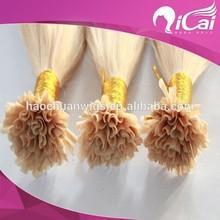 Fashion Russian Virgin Blonde Nail Tip Hair