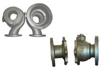 Large produce investment casting valve or pipe parts for water pump
