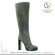 High Heel Latex Thigh High Boots