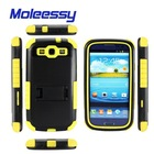 hot china products wholesale cell phone case for s3 ,shockproof case pc + silicone combo case
