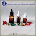 Cuadrado de vidrio ámbar botella con gotero 5 ml 10 ml 20 ml para el cosmético fluido uso