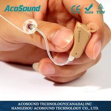 alibaba china AcoSound AcoMate 821 RIC Digital deaf cheap hearing aid digital air tube headset