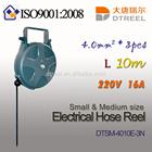 4.0mm2 3pcs L 10m 220V16A wire type DTSM-4010E-3N small and medium size electrical hose reel pruning tool