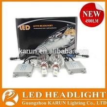 KARUN High Lumens 4500LM LED car headlight conversion kit 9005 Aerial Grade Aluminum Material