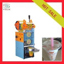 Manual plastic soybean milk cup sealing machine