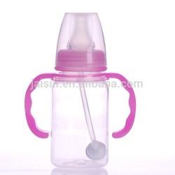 120ML Bpa free Straight body pp baby feeding drinking transparent bottle