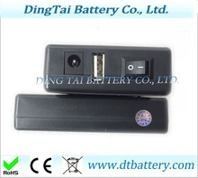 rechargeable Li-ion battery 7.4v 2000mah 18650 battery pack DC output