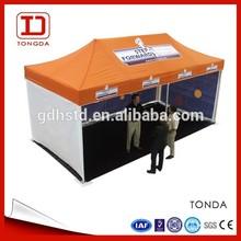 3x6m promotional heavy duty aluminum folding tent gazebo with awning