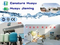 size 13x54 water filter using quartz sand,resin, blue colour FRP tank / FRP vessel
