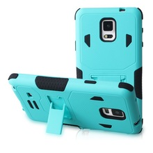 PC+Silicone material combo case for Samsung Galaxy Note 4