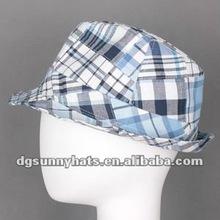 Alibaba factory 100% cotton fedora men hat for wholesale